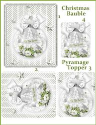 Christmas Bauble Pyramage Card Topper