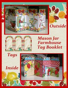 Mason Jar Farmhouse Tag Booklet with Coordinating Tags