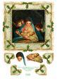 "Christmas Nativity Manger Scene - 8"" x 8"" Square Ca"