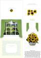 Sunflowers in a Basket in the Window 3D Decoupage Easel Card