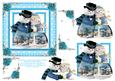Mr & Mrs Snowman Decoupage Square Card Sheet