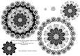 Jet Black Vintage Lace Decoupage Mandala Topper for Cards