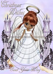 Christmas Angel 3 A4 Inverted Tunnel Card Kit