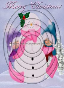 Cute Snowman & Kids A4 Inverted Tunnel Kit