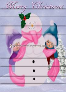 Cute Snowman & Kids A4 Side Stacker Kit