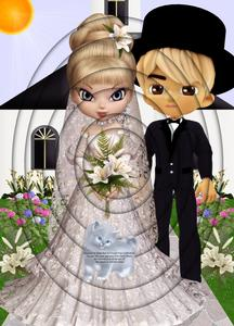Bride & Groom Just Married A4 Inverted Tunnel Card Kit