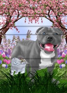 Beautiful Staffie Blue A4 Side Stacker Card Kit