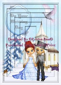 Exclusive Christmas Winter Wedding A4 Inverted Tunnel Card K