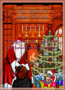 Santa's Christmas Delivery A4 Inverted Tunnel Card Kit