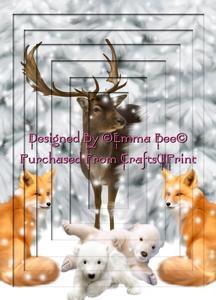 Winter Wonderland Friends 1 A4 Inverted Tunnel Card Kit