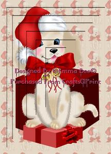 Pup N Present Girl A4 Inverted Tunnel Card Kit