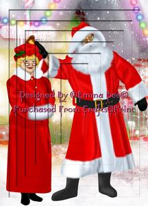 Mr & Mrs Claus A4 Inverted Tunnel Card Kit