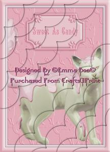 Cute as Candy Cat A4 Deckle Corner Stacker Card Kit