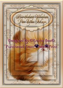 Very Cute Ginger Kitten Birthday Wishes Mum A4 Pyramid Card-