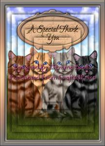 Beautiful Tabby Cats Special Thank You A4 Pyramid Card Kit