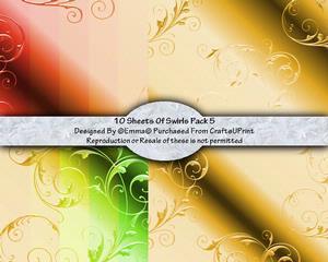 Swirls Card/paper Pack 5