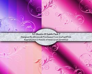 Swirls Card/paper Pack 7