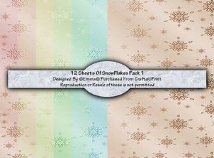 Snow Flakes Pack 1