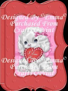 Valentine Birthday Notelet Card Gift I Love You Puppy 7