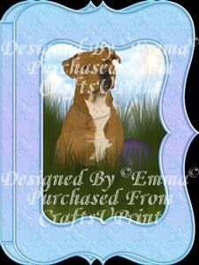 Cute Pitbull Notelet Card Gift Set 1 of 3