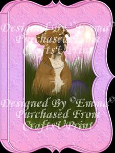 Cute Pitbull Notelet Card Gift Set 2 of 3