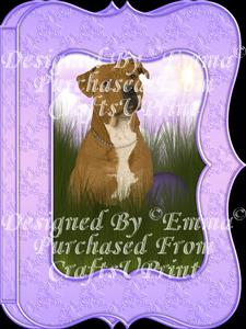 Cute Pitbull Notelet Card Gift Set 3 of 3