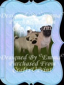 Cute Pug & Pup Notelet Card Gift Set 1 of 3