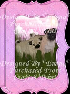 Cute Pug & Pup Notelet Card Gift Set 2 of 3