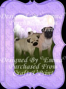 Cute Pug & Pup Notelet Card Gift Set 3 of 3
