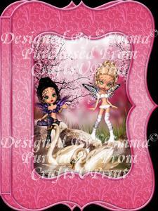 Oriental Swans Fairy Scene Notelet Card Gift Set