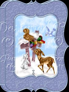Christmas Animals Notelet Card Gift Set