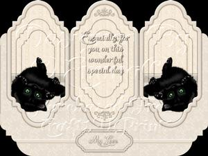 Oh So Cute Kitten Tri Fold Card Kit 7 of 8