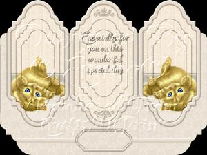 Oh So Cute Kitten Tri Fold Card Kit 8 of 8