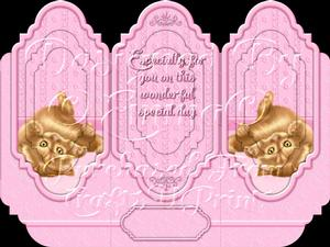 Oh So Cute Kitten Tri Fold Card Kit Pink 4 of 8