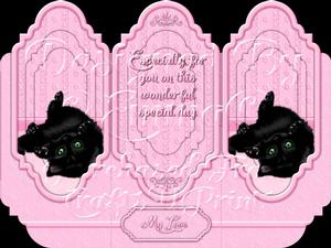 Oh So Cute Kitten Tri Fold Card Kit Pink 7 of 8