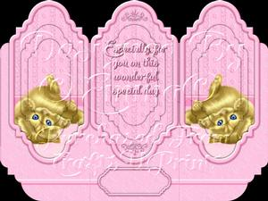Oh So Cute Kitten Tri Fold Card Kit Pink 8 of 8