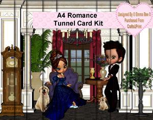 A4 Romance Tunnel Card Kit