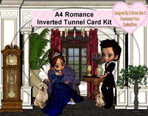 A4 Romance Inverted Tunnel Card Kit