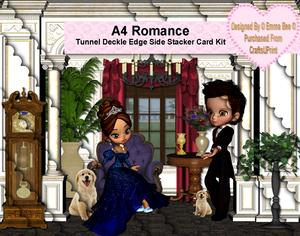 A4 Romance Tunnel Deckle Edge Side Stacker Card Kit