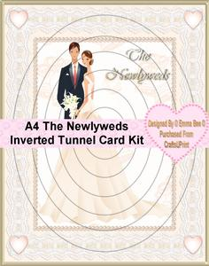 A4 the Newlyweds Inverted Tunnel Card Kit