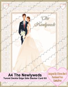 A4 the Newlyweds Tunnel Deckle Edge Side Stacker Card Kit