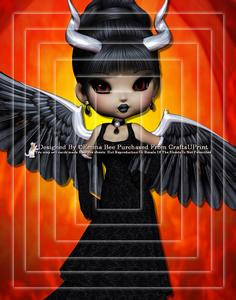 Devil from Hell A4 Pyramid Card Kit 3