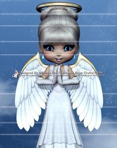 Angel from Heaven A4 Side Stacker Card Kit