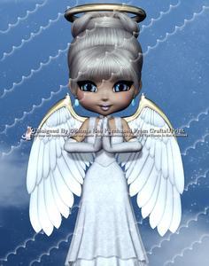 Angel from Heaven A4 Deckle Edge Corner Stacker Card Kit