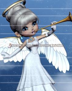Angel from Heaven A4 Side Stacker Card Kit 3