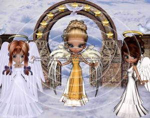 3 Guardian Angels A4 Inverted Tunnel Card Kit