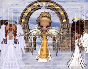 3 Guardian Angels A4 Pyramid Card Kit