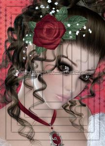 Rosebud Beauty Brunette A4 Pyramid Card Kit