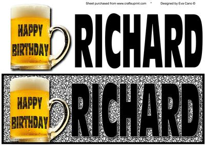 Happy Birthday Richard Large Dl - CUP177042_750 | Craftsuprint