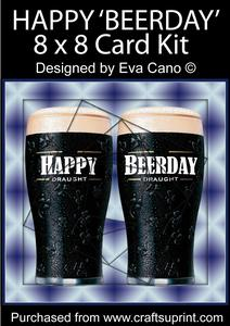 Happy 'beerday' 8x8 Card Kit